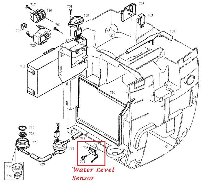 jura j s x z giga water level sensor 125mm fill water. Black Bedroom Furniture Sets. Home Design Ideas