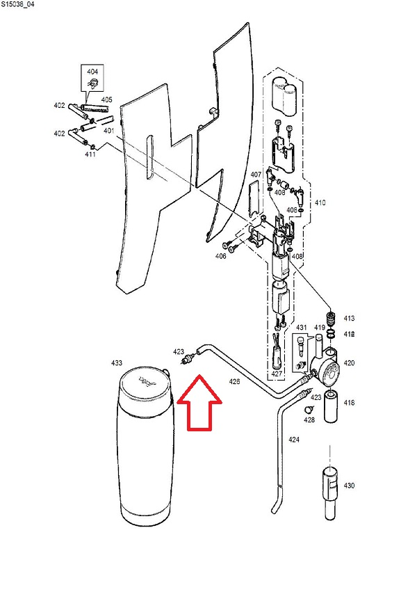 Jura 120mm Milk Tubes (2) & Milk Hose Connectors (4) Diagram
