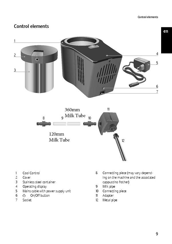 Jura Cool Control Milk Tube & Connectors
