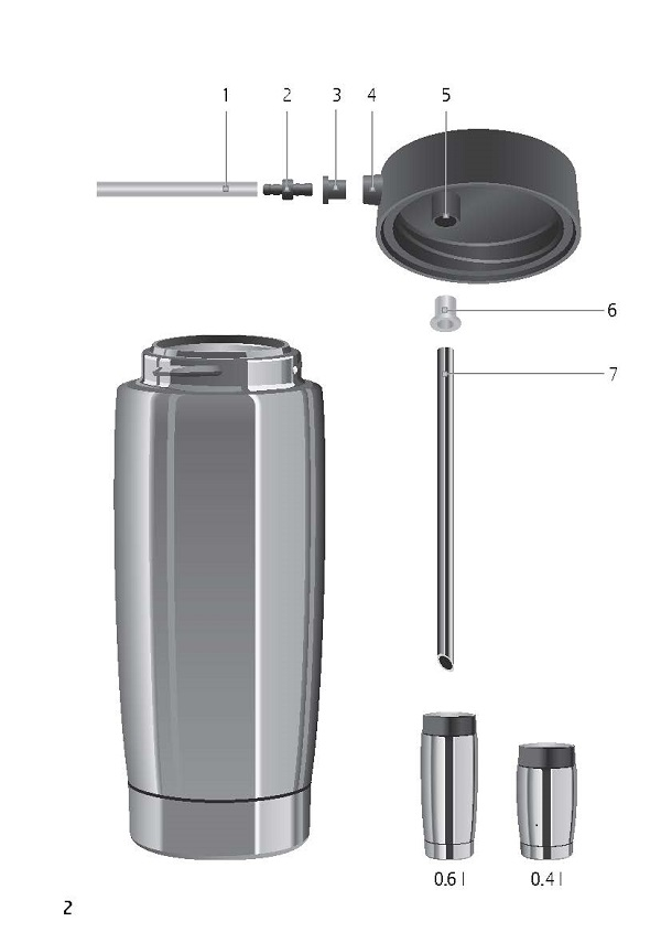 Jura Stainless Steel Milk Container Lid Diagram
