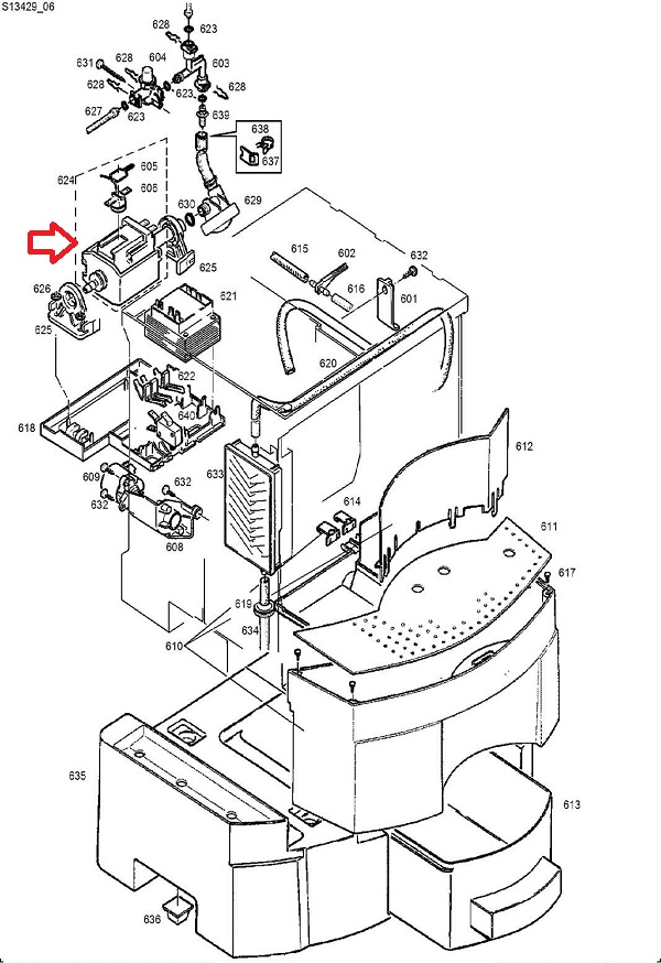 Jura CP3 Invensys Water Pump - 120V Water Pump Diagram on