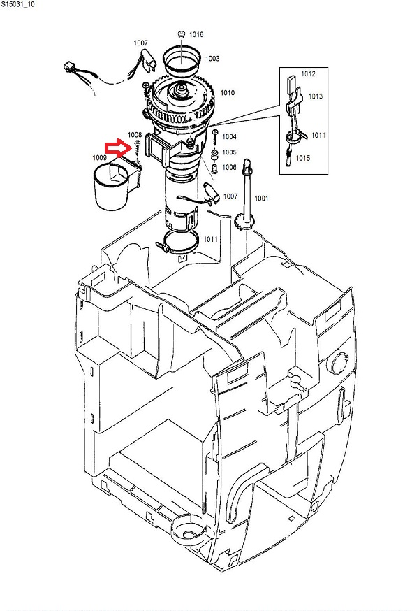 Jura T10 Torx Screw Diagram